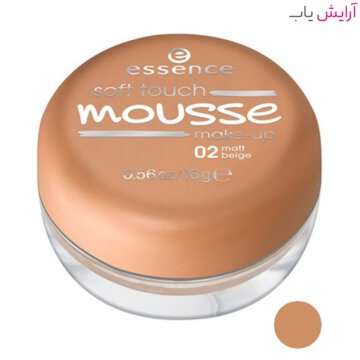 موس مات اسنس مدل Soft Touch شماره 02 - بژ - Essence Soft Touch Matt Mousse Foundation No.02 beige