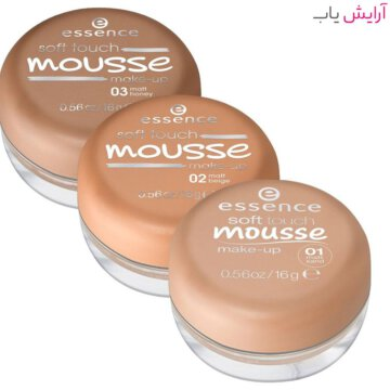 موس مات اسنس مدل Soft Touch شماره 03 - عسلی - خرید Essence Soft Touch Matt Mousse Foundation No.03 Honey