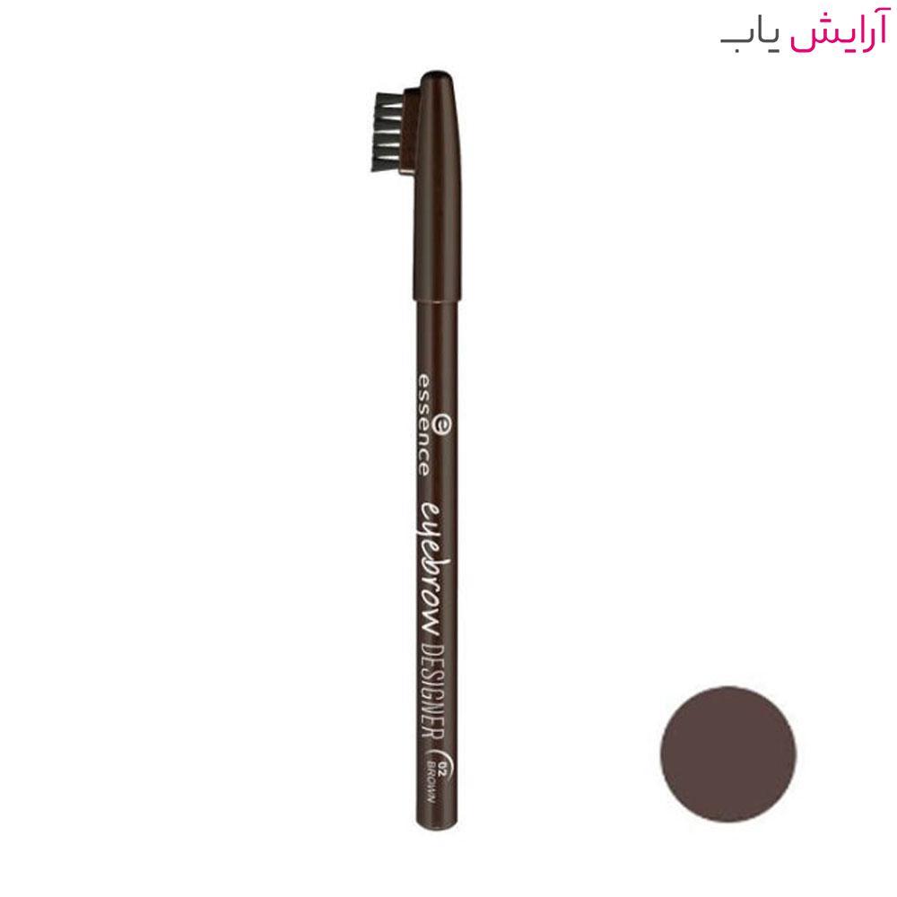 مداد ابرو اسنس مدل Designer 02 قهوه ای تیره - Essence Designer Eyebrow Pencil 02 Dark Brown