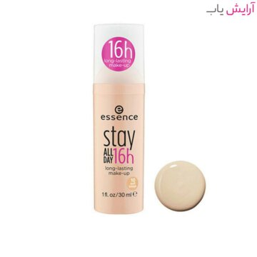 کرم پودر اسنس Stay All Day شماره 03 - وانیلی - Essence Stay All Day 16H Makeup Foundation 30ml No.03 Soft Porcelain