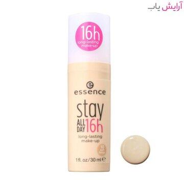 کرم پودر اسنس Stay All Day شماره 10 - بژ روشن - Essence Stay All Day 16H Makeup Foundation 30ml No.10 Soft Beige