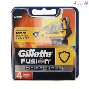 تیغ یدک ژیلت مدل Fusion Proshield بسته 4 عددی - Gillette Fusion Proshield Razor Blades Pack Of 4