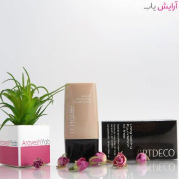کرم پودر آرت دکو شماره 03 سری LONG LASTING - Artdeco Long-Lasting Oil-Free Foundation 03