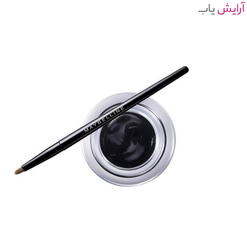 خط چشم ژلی کاسه ای میبلین مدل لستینگ دراما شماره 01 رنگ Noir Black