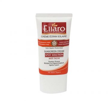 کرم ضد آفتاب اسپات سولوشن الارو مناسب برای انواع پوست SPF50 حجم 40 میلی لیتر