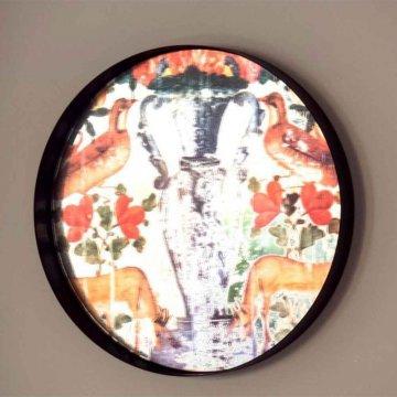 سینی/تابلو آینه ای راشد